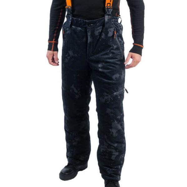 Зимние брюки Тритон -15 бельбоа серо-черные