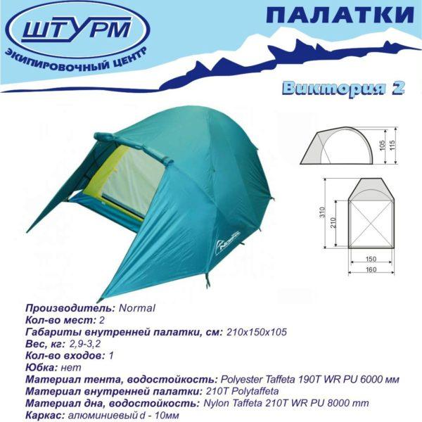Палатка Нормал Виктория 2 описание