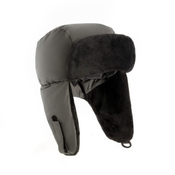 шапка зимняя, теплая, баск, пуховая
